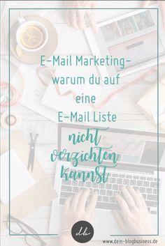 Warum du auf eine E-Mail Liste nicht verzichten kannst, erfährst du hier...