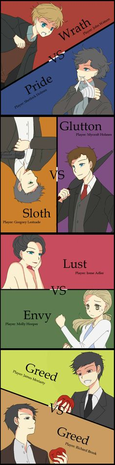 love this at first i thought is was from an anime bu then i realized it was sherlock its so kawaii omg