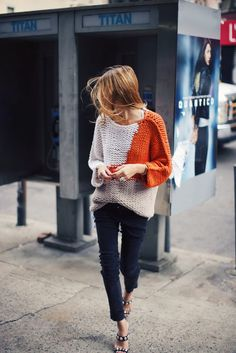 Sweater Edington, leather pants Dixon. Via Maja Wyh