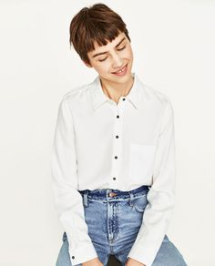 Image 2 of SHIRT WITH SHOULDER TAB from Zara