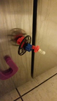 My 4yr old son made his first magnetic laser satellite.
