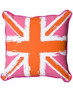 Room Service 'British Flag' Decorative Pillow