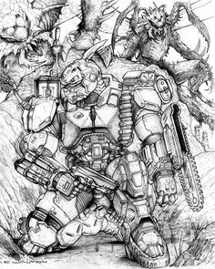 RIFTS NG Forester Power Armor by ChuckWalton on DeviantArt