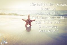 Life is like the ocean. #OuterBanks #OBX #BeachQuotes
