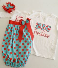 Newborn Gown Brother Sister Matching Outfits for baby gifts Big Brother Little Sister, Baby Sister, My Baby Girl, Our Baby, Little Sisters, Baby Love, Big Brother Shirts, Lil Sis, Cute Babies