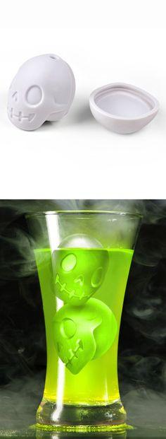 Skull ice cube mold #halloween