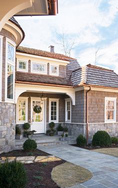 1000 images about stone shingle on pinterest for Stone and cedar homes