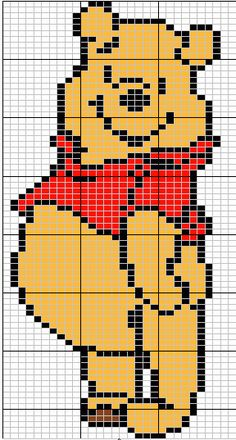 Winnie the Pooh patterns - along with many, many other Disney and cartoon characters - look at the actual site for all patterns