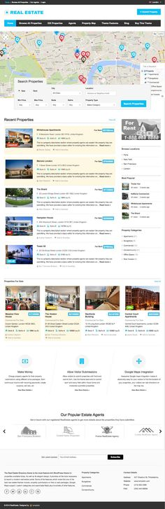 Ultimate Responsive Real Estate Directory Theme