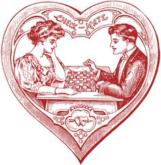 Victorian Heart Valentines - The Graphics Fairy