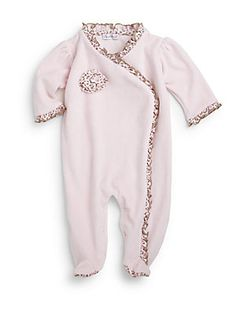 Kissy Kissy Infant's Velour Cheetah Ruffle Footie