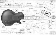 Image result for guitar les paul blue print