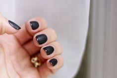 matte black manicure glossy tip