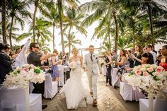 """I do"" at Trisara Phuket Thailand. Wedding dress: Hayley Paige. Destination Wedding Thailand. Photography: Girl in the White Dress."