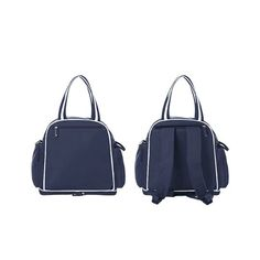 Sunveno Signature Maternity Diaper Bag - Navy Blue  Ever wished for a diaper bag which is a trio convertible diaper bag – Back pack, Messenger Bag and a Handbag! For the Stylish and Traveller Mom's, our most sought after Trio Signature Diaper Bag is here! This Sunveno diaper bag comes in lovely English colours to make this extremely spacious bag, turn heads around. Convenient double zipper design offers you a large view and makes the big space accessible, without letting the sides fall off or th Sunveno Diaper Bag, Trendy Diaper Bags, Convertible Diaper Bag, Baby Items, Fashion Backpack, Messenger Bag, Maternity, Navy Blue, English
