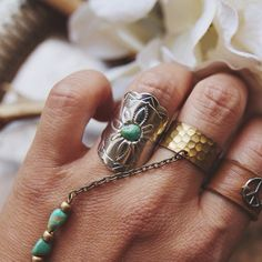 Repurposed vintage concho ring by EcoDesignProject