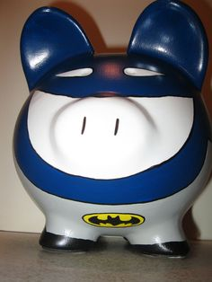Batman Piggy Bank hell yeah it be even funnier if it was Spider-Man Spider-pig hahaha