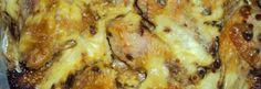 Frango assado com creme de cebola e maionese