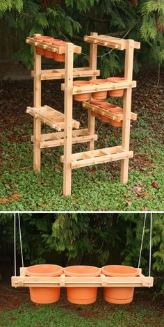 Six-Frame Hanging Planter Frame. I came across a new product, Planter Frames, when visiting the Northwest Flower and Garden Show in Seattle last month. The free standing wood planters are handcrafted by Pacific Northwest … Wood Planters, Garden Planters, Planter Ideas, Pergola Planter, Diy Planter Stand, Porch Garden, Succulent Planters, Garden Show, Garden Stand