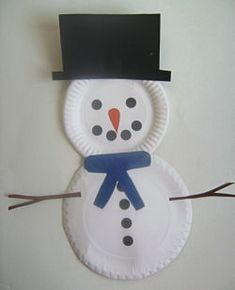 Paper plate snowman.  I think this will be easy enough for my first graders to do in a station by themselves.