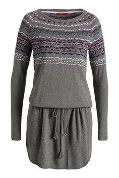 EDC / Feinstrick-Kleid mit Woll-Blend