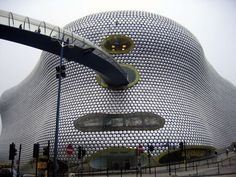 Selfridges, Birmingham, England by Architect Jan Kaplicky. Photo by Brian Norman, wikipedia. #Selfridges #Jan_Kaplicky #Brian_Norman #wikipedia