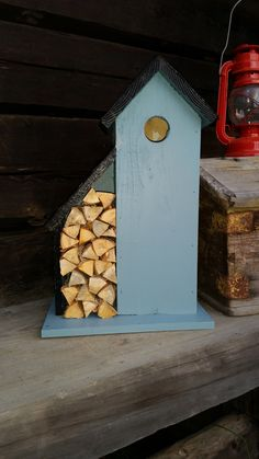 This is also my self -made birdhouse inspired from Pinterest/ Anette Lönn