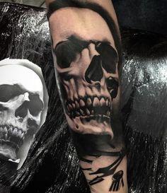 Terrifying Skull Tattoo