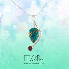 This blue copper turquoise gemstone supported by the silver frame looks not only classy but royal. Pair up this beautiful pendant with any formal dress and wear a different look at your workplace. How are you going to pair it up?