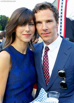 Thrilled to celebrate our national day with a certain Mr Cumberbatch and Sophie Hunter.