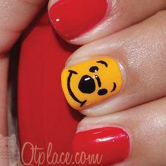 Winnie the pooh nail tut + finished pics | Qtplace
