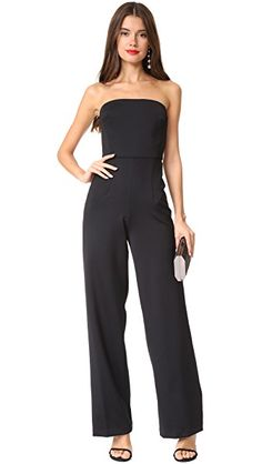 MONIQUE LHUILLIER BRIDESMAIDS STRAPLESS JUMPSUIT. #moniquelhuillierbridesmaids #cloth #