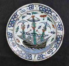 Plato con Diseño barco de vela   islámica   el Met