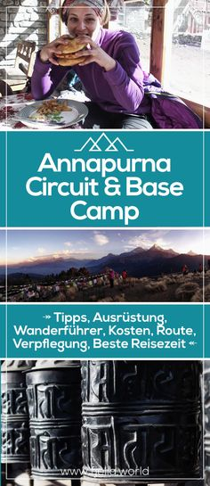 Annapurna Circuit - eine der schönsten Wanderungen der Welt! In unserem Ratgeber erfährst du alles was du wissen musst zum Trekking in Nepal auf dem Annapurna Circuit & Base Camp: Tipps, Ausrüstung, Wanderführer, Kosten, Route, Verpflegung, Beste Reisezeit... #nepal #trekking #wandern #annapurna #annapurnabasecamp #berge