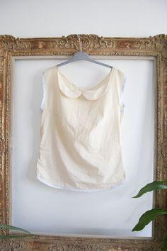 DIY : button up shirt to peter pan collar top on Jolie-Breizh