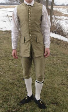 Mens Complete Colonial Costume 18th Century Film Used 100 Silk | eBay