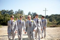 Big fan of the grey suits and shades