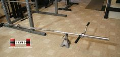Homemade T-Bar Row. Utilizing your power rack, make your own T-Bar row.