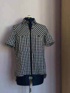 Adolfo Dominguez gingham shirt