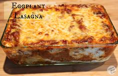 "Eggplant Lasagna | Satisfaction Through Christ | I LOVE lasagna, mainly because I love pasta.  But since I've been more in touch with my healthier side, I decided to try out Eggplant Lasagna. This lasagna is less hassle than ""real"" lasagna, but is just as satisfying. Try it here!"