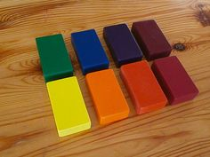 8 Organic Beeswax Block CrayonsWaldorf Rainbow Colours Made with just the right amount of natural waxes, color and love. Filana™ crayons are a natural alternati