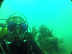 Mergulho com os amigos em Mara Rosa Goias Brasil