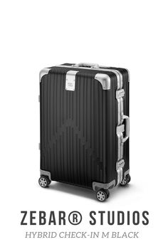 Two of the most advanced materials in the world elegantly combined: The ZEBAR Hybrid Check-in M in BLACK uses German technology to combine the resistance of our unique aluminum-magnesium alloy with the high quality of the light material polycarbonate, making it the ideal companion for a whole Life while traveling. Highly functional and perfectly suited as checked baggage: the comfortable, medium-sized trolley offers you plenty of storage space for trips of up to 5 days. Air France, Business Trolley, Baggage, Storage Spaces, Suitcase, Studio, Black, Beige