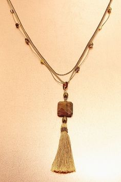Boston Proper Tassel necklace #bostonproper