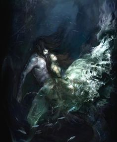 hades and persephone. I think this picture represents their relationship very well. May not be true to myth but not bad, Greek And Roman Mythology, Greek Gods, Hades Und Persephone, Dark Fantasy, Fantasy Art, Elfen Fantasy, Matsuri Hino, Mermaid Wallpapers, Fantasy Couples