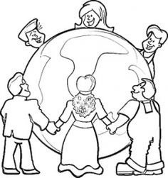 Children Aroun Kids Around The World Coloring Pages - flags around the world coloring pages
