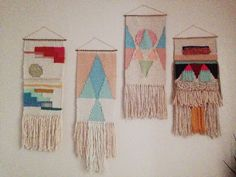 Woven wall hanging tapestry collection by  Maryanne Moodie  www.maryannemoodie.com