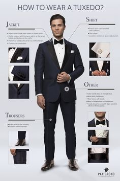 Discover more about black and blue tuxedo. Check the webpage for more info This is must see web content. Black Suit Wedding, Wedding Suits, Estilo James Bond, Bond Suits, Suit Guide, Interview Suits, Wearing A Tuxedo, Business Attire For Men, Fashion Infographic
