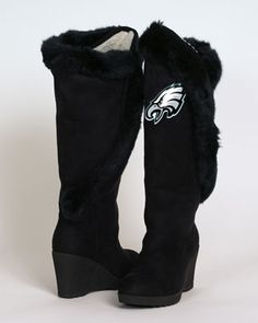 Cheer on your team & stay warm! #Eagles Women's Cheerleader Boot. $144.99