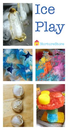 Lots of ice play and frozen activities - great for sensory play and hands-on learning